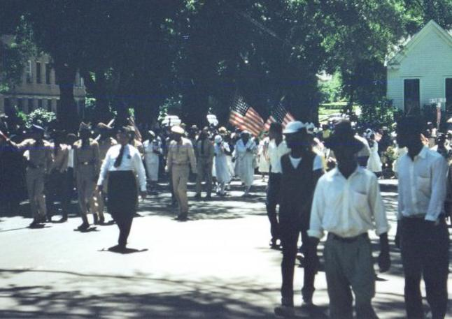 Natchez '30th of May' marchers, circa 1950s. (Courtesy of NAPAC Museum)