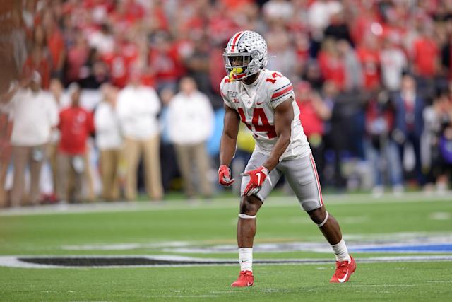 Ohio State WR K.J. Hill is the Buckeyes' all-time receptions leader. (Photo by Michael Allio/Icon Sportswire via Getty Images)