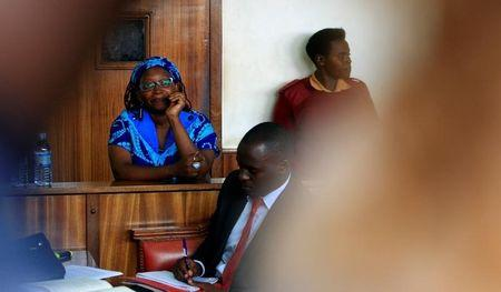 Ugandan prominent academic Stella Nyanzi stands in the dock at Buganda Road court charged with cybercrimes after she posted profanity-filled denunciations of president Yoweri Museveni on Facebook, in Kampala
