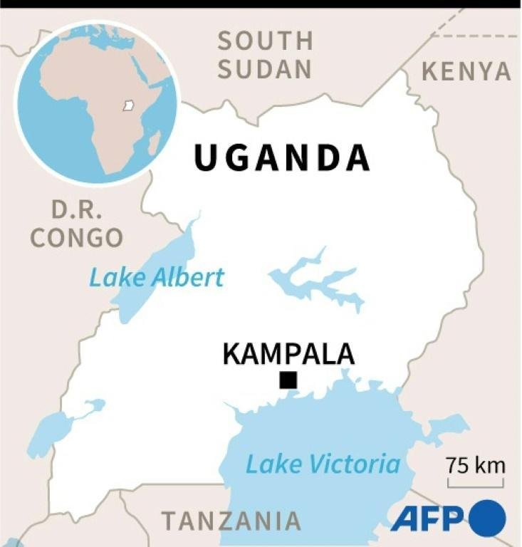Map of Uganda where presidential elections will be held on January 14.