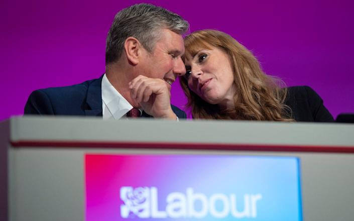 Sir Keir Starmer and Angela Rayner, Labour's deputy leader, at the party conference - Eddie Mulholland for The Telegraph