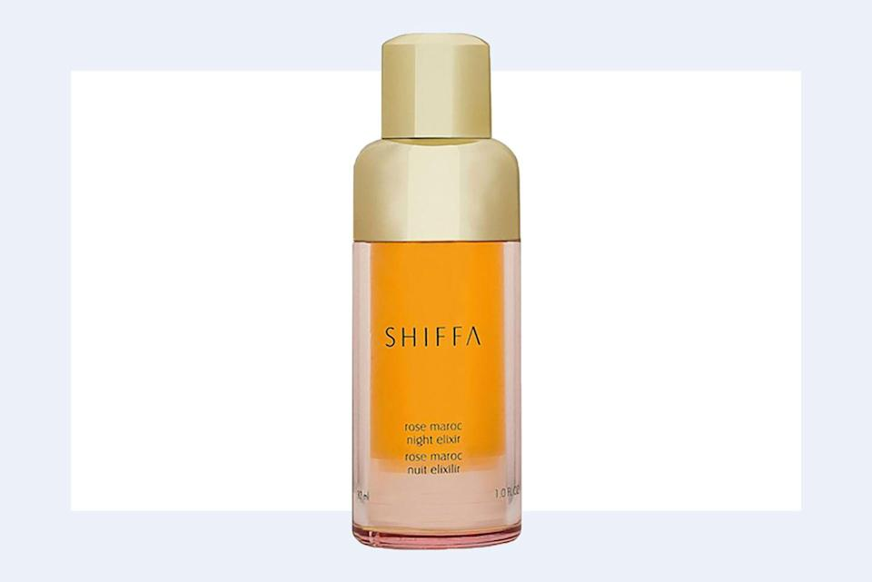 """<p><a class=""""link rapid-noclick-resp"""" href=""""https://www.shiffa.com/products/rose-maroc-night-elixir"""" rel=""""nofollow noopener"""" target=""""_blank"""" data-ylk=""""slk:SHOP NOW"""">SHOP NOW</a> <em>Shiffa Rose Maroc Night Elixir, $175</em><br></p><p>""""Vitamin A derivatives—such as retinols and retinoids—are one of the most important anti-aging ingredients to emerge in the last few decades. <strong>Everyone should be using some sort of Vitamin A derivative every night,</strong> and I firmly believe it should be a <em>nighttime</em> application, rather than daytime. <strong>They encourage healthy skin cell production and help unclog pores,</strong> speed cell turnover, even out discoloration, and smooth skin.""""—<em>Dr. Lamees Hamdan, founder and CEO of Shiffa</em><br></p>"""
