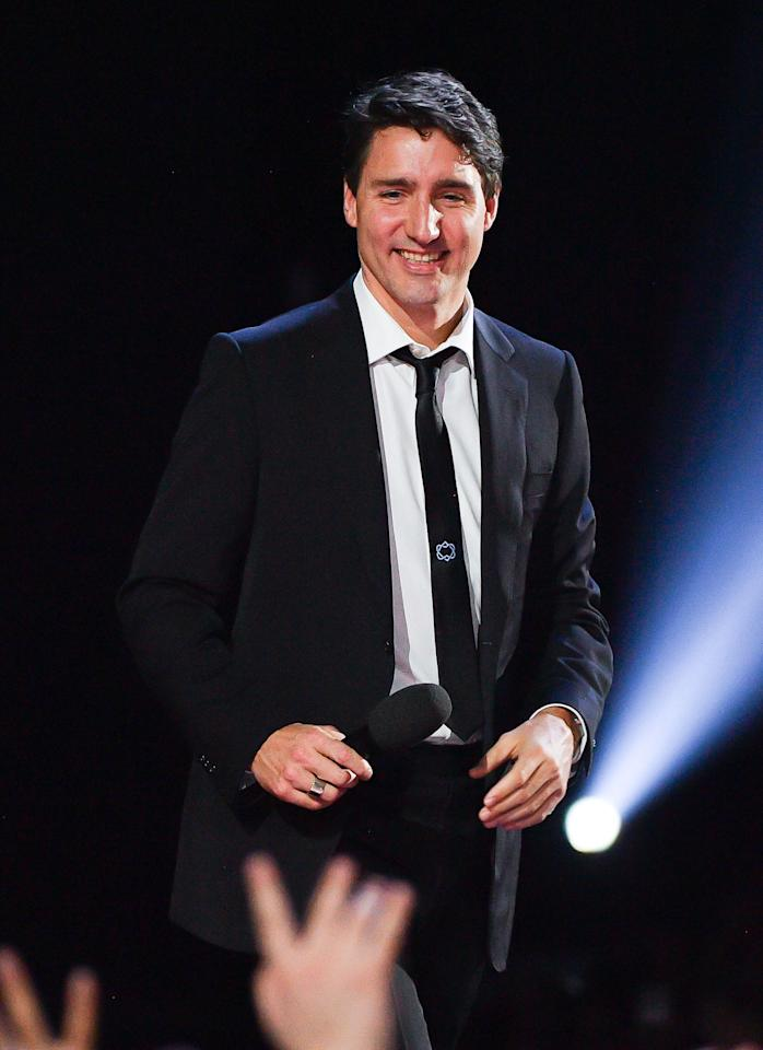 """<p>As for the rest of <a rel=""""nofollow"""" href=""""http://www.gq.com/gallery/justin-trudeau-most-stylish-moments-2016?mbid=synd_yahoostyle"""">Justin Trudeau</a>'s fit, his black and white Reservoir Dogs suit was reminiscent of another stylish leading <a rel=""""nofollow"""" href=""""http://www.gq.com/story/justin-theroux-style-suit?mbid=synd_yahoostyle"""">man</a> in Hollywood. And the stark lack of color made a perfect backdrop for his embroidered tie. If you're thinking of copying the style this spring, keep your suit and dress shirt colors minimal so your tie has plenty of room to shine. Want to pick up your own embroidered tie right this minute? Here are three we enthusiastically recommend:</p>"""