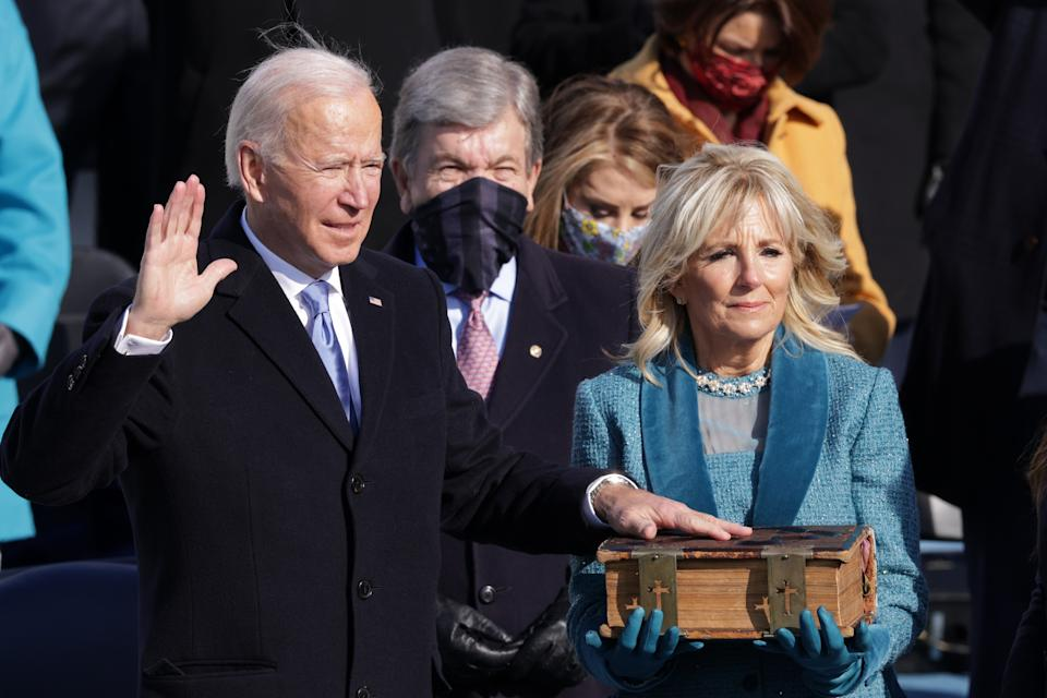 Joe Biden is sworn in as the 46th president of the USGetty Images