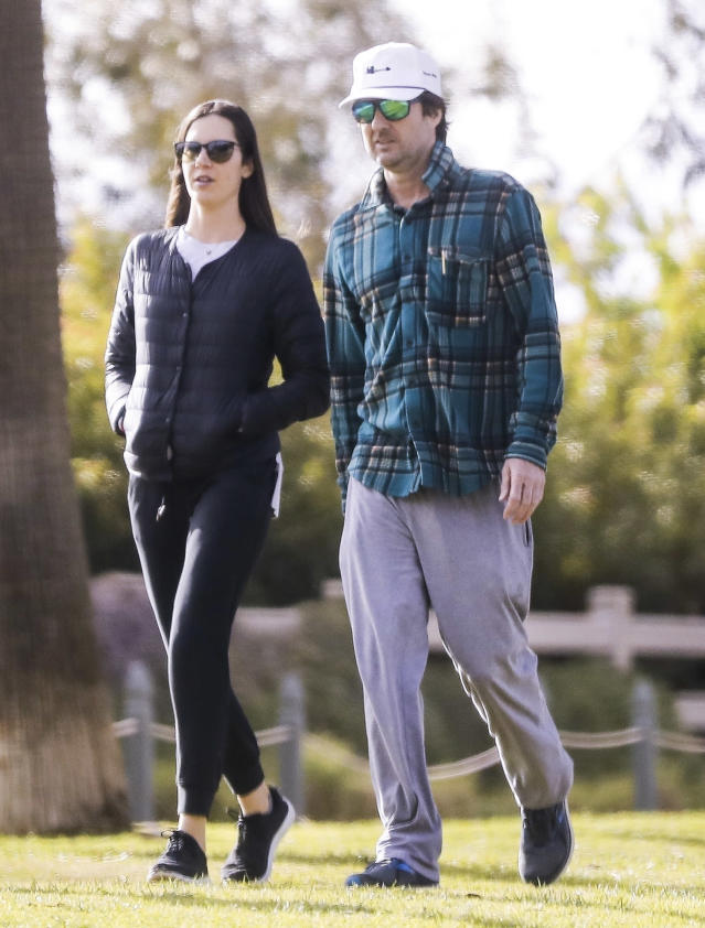<p>Also getting fresh air on Friday, Luke Wilson, who takes a walk in a Santa Monica park.</p>