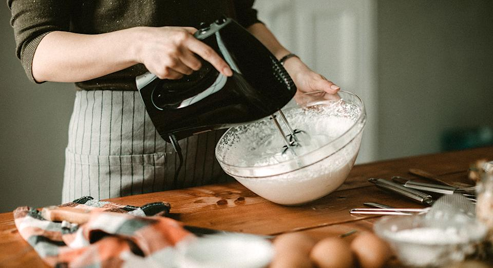 Take the stress out of your baking with a nifty hand mixer.  (Getty Images)
