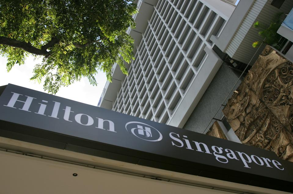The Hilton hotel is seen in Singapore, December 30, 2005. (PHOTO: Reuters)