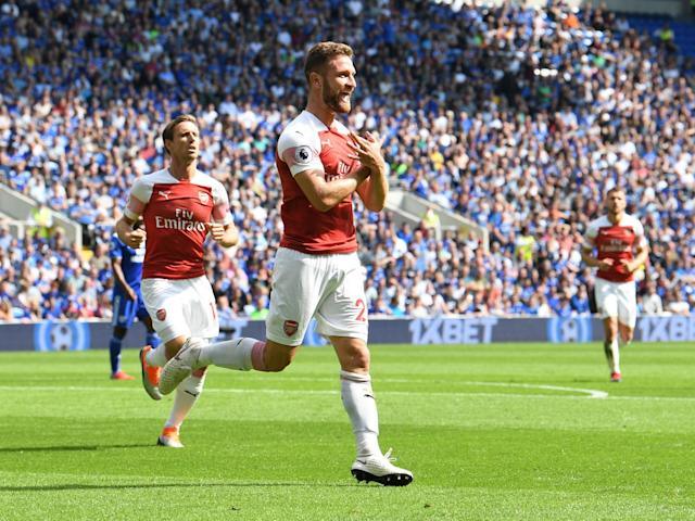 Shkodran Mustafi goal celebration during Cardiff vs Arsenal risks FA punishment due to pro-Kosovo meaning