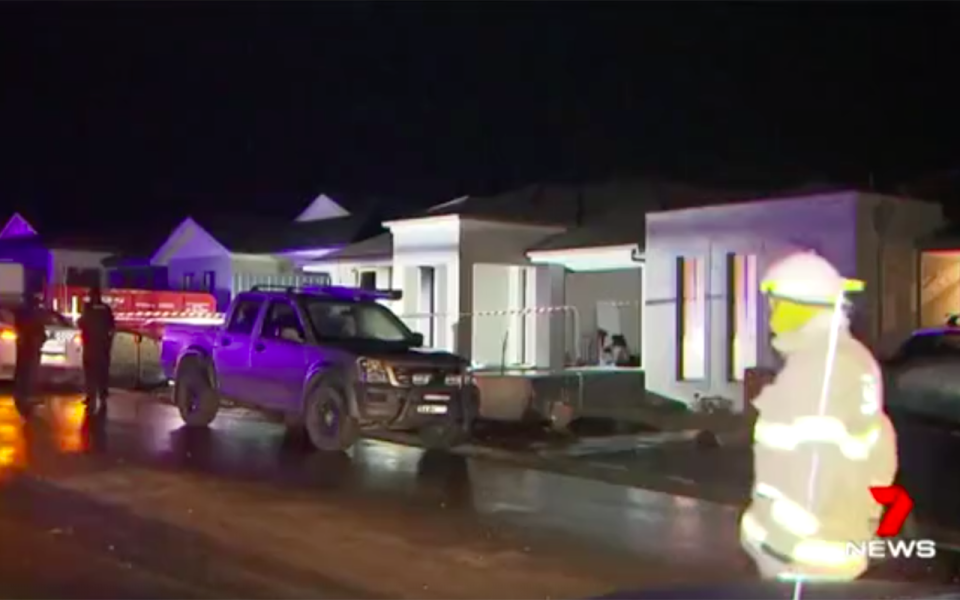 An arsonist is on the run after a terrifying Molotov cocktail attack on a home in South Australia. Source: 7 News