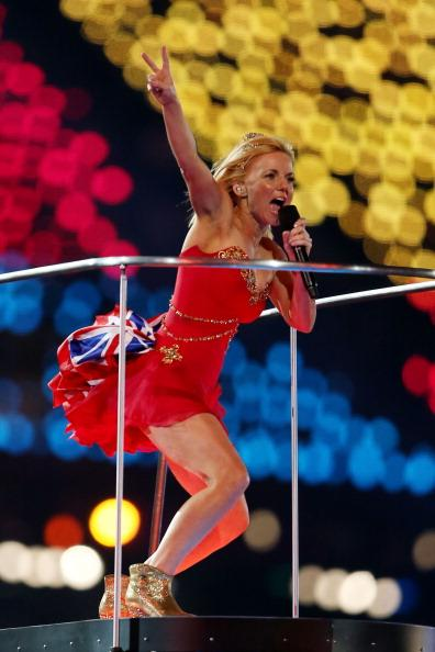 LONDON, ENGLAND - AUGUST 12:  Geri Halliwell of The Spice Girls performs during the Closing Ceremony on Day 16 of the London 2012 Olympic Games at Olympic Stadium on August 12, 2012 in London, England.  (Photo by Julian Finney/Getty Images)