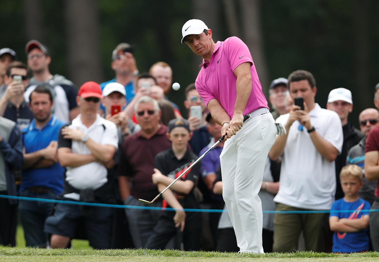 Golf - European Tour - BMW PGA Championship - Wentworth Club, Virginia Water, Britain - May 27, 2018  Northern Ireland's Rory McIlroy in action during the final round  Action Images via Reuters/Paul Childs