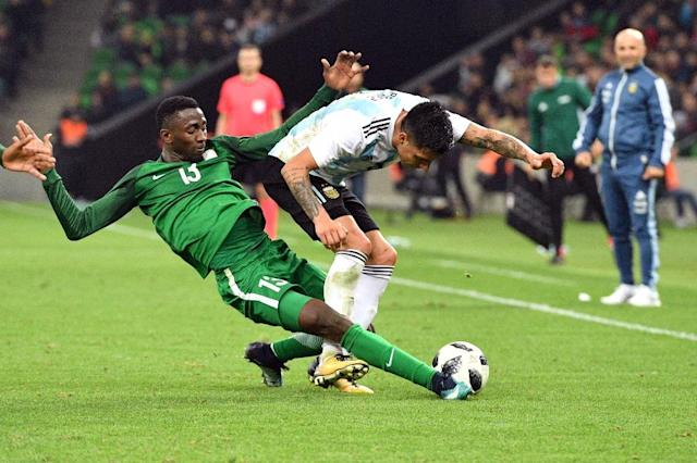 Nigeria will face off in Group D against Argentina, whom they played in a friendly in November 2017 (AFP Photo/Mladen ANTONOV)