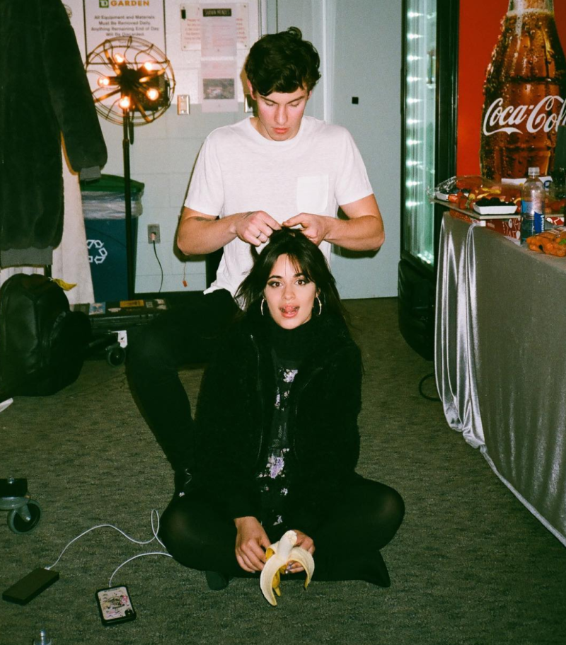 Shawn Mendes Weekend Included Braiding Camila Cabellos Hair And