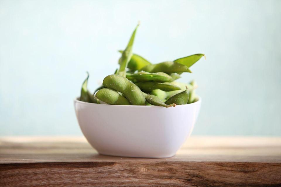 """<p>Soy-based foods, such as tofu, soy milk, and edamame, help fight heart disease when they replace fatty meats and cheeses, slashing saturated fat intake. Soy also contains heart-healthy polyunsaturated fats, a good amount of fiber, and some important vitamins. But stick with whole soy foods rather than processed foods, like veggie patties or chips. And, avoid taking soy supplements, which contain high and possibly dangerous amounts of isoflavones.</p><p><strong>Try it: </strong><a href=""""https://www.prevention.com/food-nutrition/recipes/a20477350/corn-mango-and-edamame-salad/"""" rel=""""nofollow noopener"""" target=""""_blank"""" data-ylk=""""slk:Corn, Mango, and Edamame Salad"""" class=""""link rapid-noclick-resp"""">Corn, Mango, and Edamame Salad</a></p>"""
