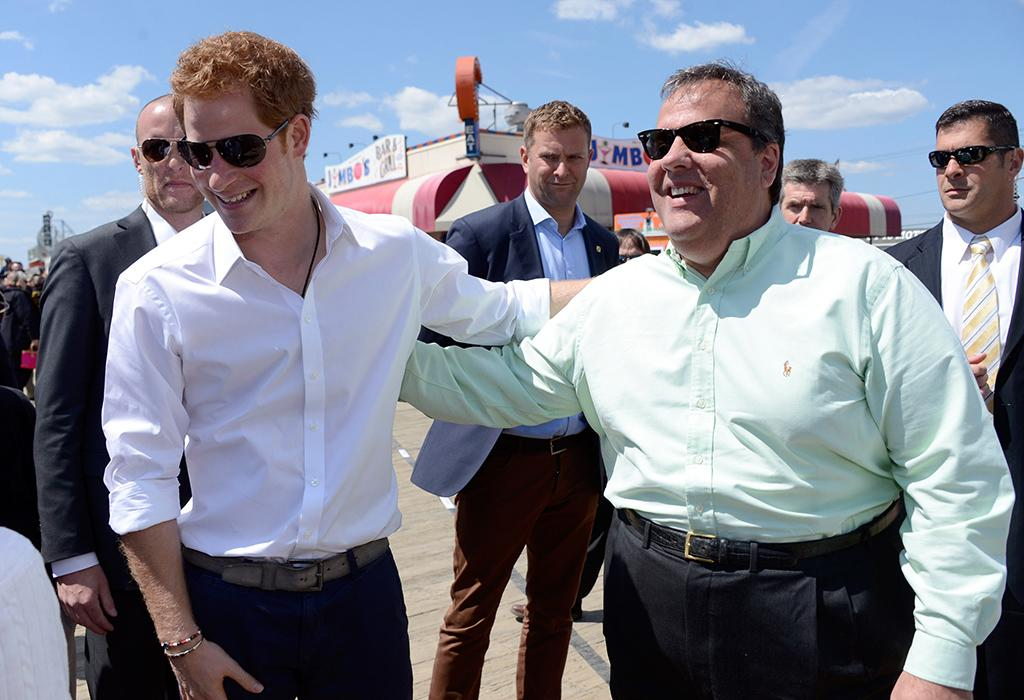 "Jersey Shore residents gave their most recent famous guest the royal treatment (literally) when Britain's Prince Harry visited the beach community of Seaside Heights (yes, the backdrop for the infamous reality show ""Jersey Shore"") on Tuesday, day five of his visit to the States. Harry met with Garden State Governor Chris Christie to tour the area devastated by Hurricane Sandy last year ... and the two squeezed a few boardwalk games too. (5/14/2013)"