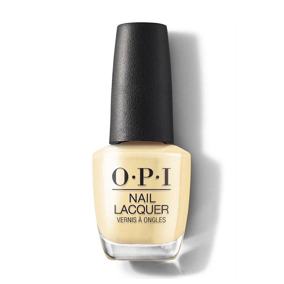 """<p>A little too yellow to be beige, wheat strikes the perfect balance between eye-catching pastel and goes-with-everything neutral. """"After a year indoors, we are feening for yellow — bringing the sun to our fingertips, too,"""" Kandalec says. </p> <p>We especially love OPI's take on the tone, Bee-hind the Scenes, because it makes it so easy to wear yellow. It looks just as timeless and pretty as any cream-colored nail lacquer but has just as much fun as shades a little left of classic.</p>"""
