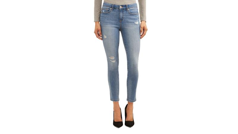 Curvy Destructed High Waist Ankle Jean. (Photo: Walmart)