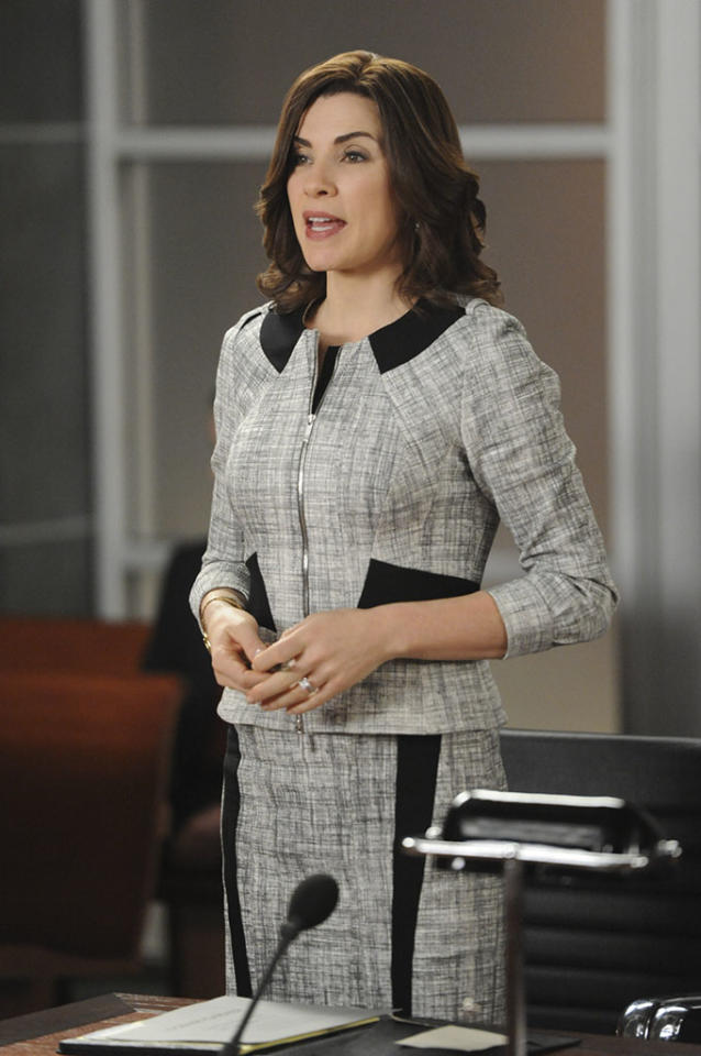 """What's in the Box?"" -- On the eve of the gubernatorial election, Alicia (Julianna Margulies), Will and Diane find themselves in a series of emergency court proceedings when the validity of crucial ballots is called into question, on ""The Good Wife."""
