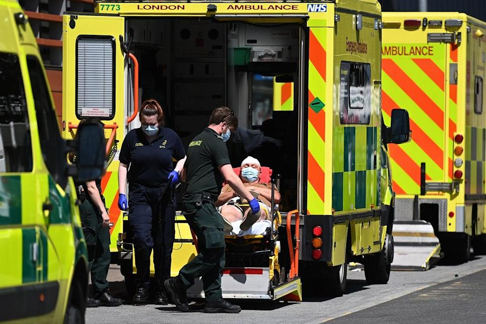 Hospitals in the northwest of England are having to transfer critically ill patients to stay on top of pressures (EPA)