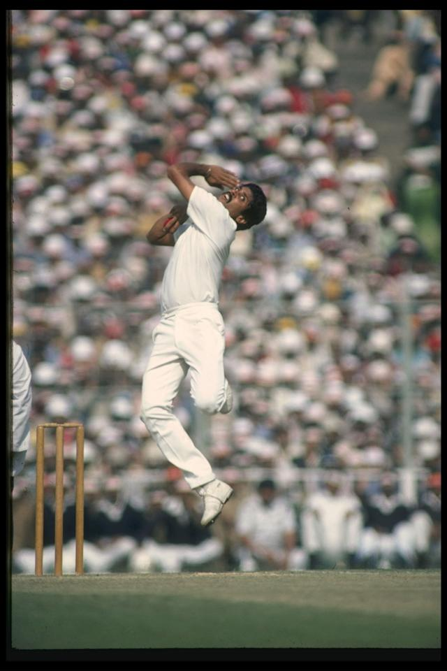 1 Jan 1982:  Kapil Dev India's top fast bowler in action.         Mandatory Credit: /Allsport UK
