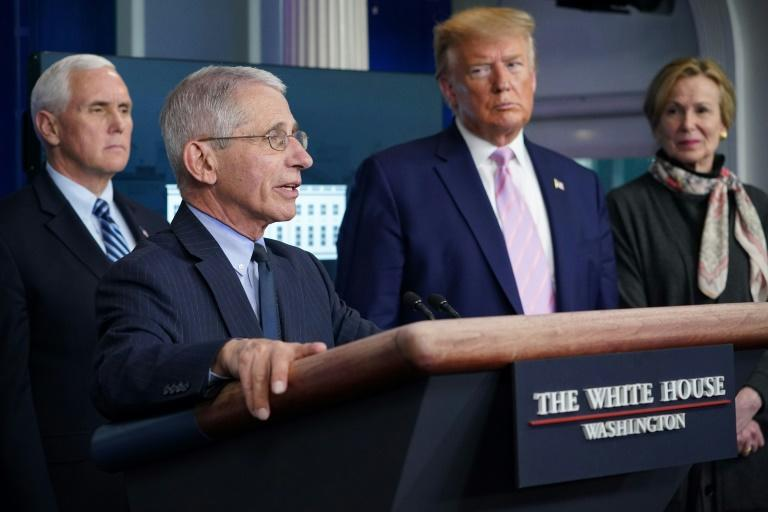US expert Anthony Fauci has more than once had to correct President Donald Trump's statements about the crisis