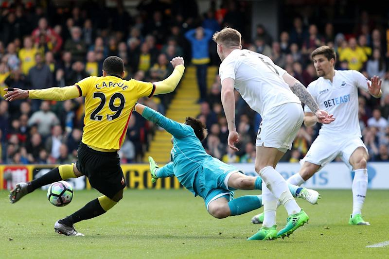 Capoue scores the winner for Watford: Getty Images