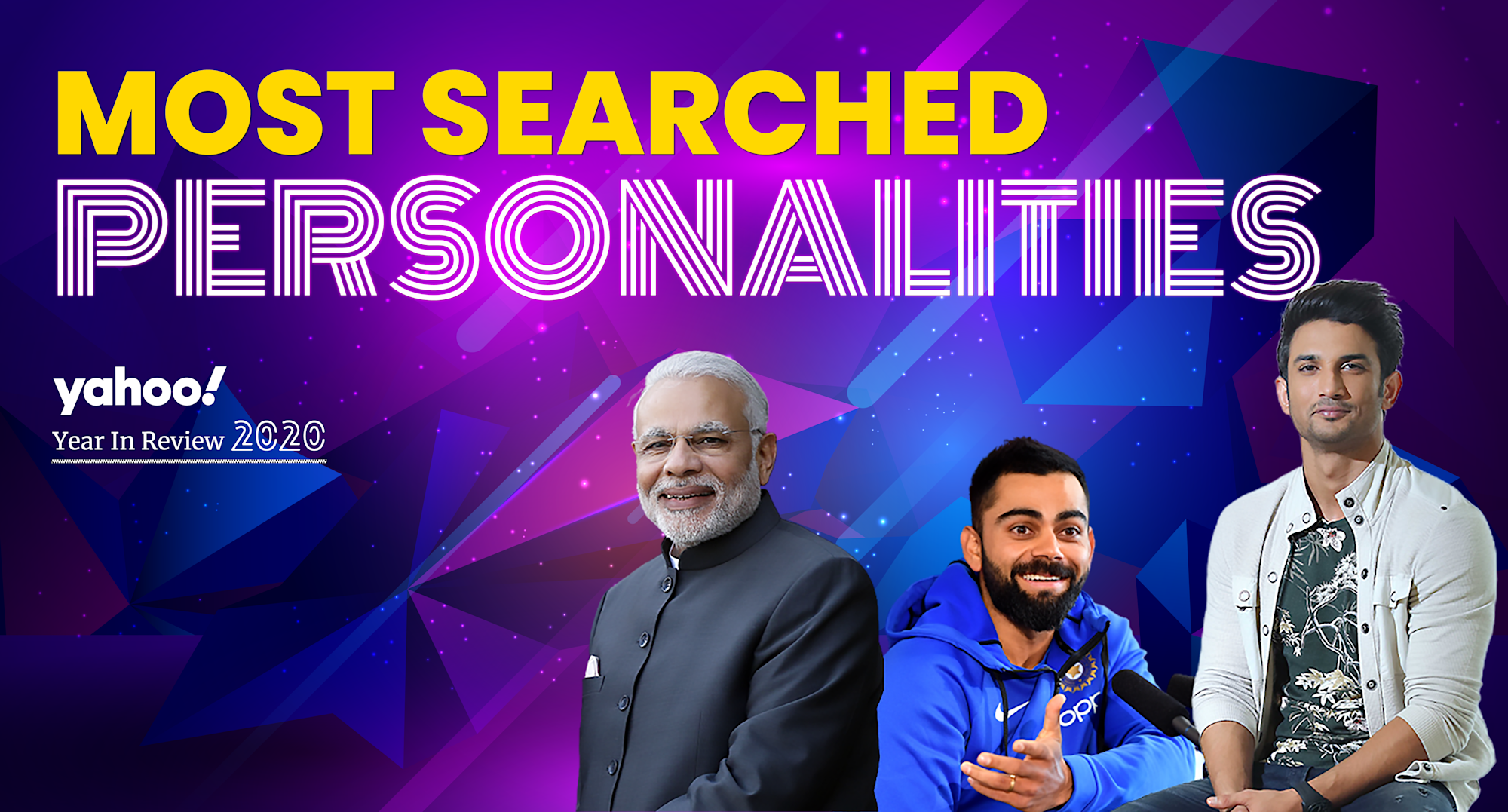 Yahoo's 20 most searched personalities, 2020