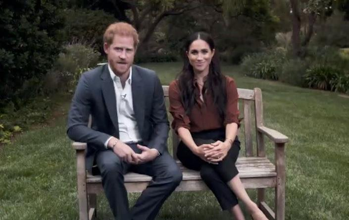 Prince Harry and Meghan Markle talk about the importance of voting in the TIME100 special. (Photo: ABC News)