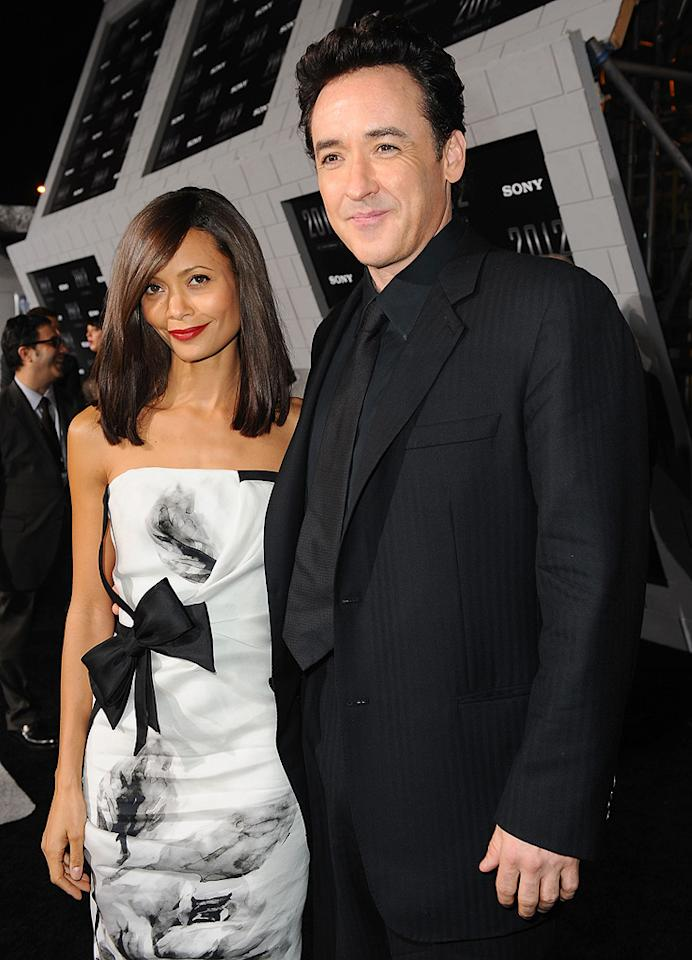 "<a href=""http://movies.yahoo.com/movie/contributor/1800018708"">Thandie Newton</a> and <a href=""http://movies.yahoo.com/movie/contributor/1800019276"">John Cusack</a> at the Los Angeles premiere of <a href=""http://movies.yahoo.com/movie/1810045661/info"">2012</a> - 11/03/2009"