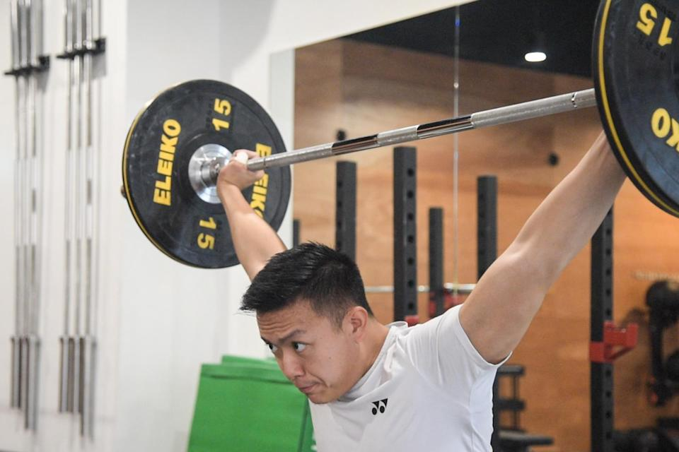 National weightlifter John Cheah represented Singapore at the 2018 Commonwealth Games in Gold Coast. (PHOTO: Stefanus Ian)