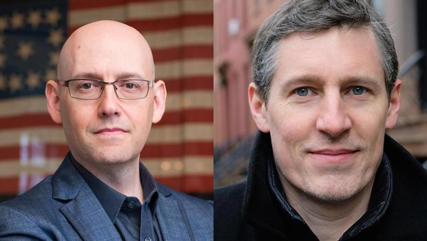 Authors Brad Meltzer and Josh Mensch. / Credit: Michelle Watson, Catchlight Group; Mary Robertson