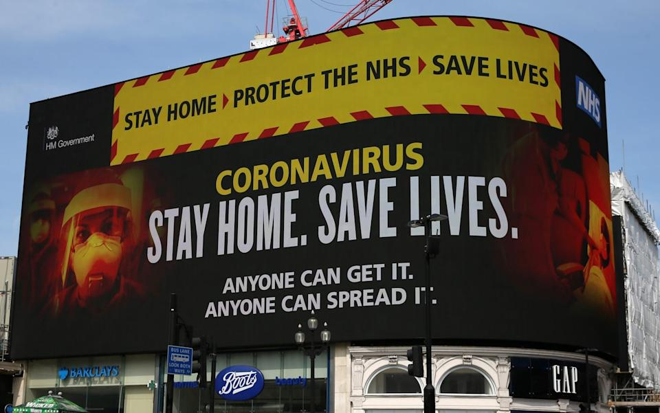 The Government's slogan urged the public to 'protect the NHS' at the height of the virus crisis - Isabel Infantes/Getty Images Contributor