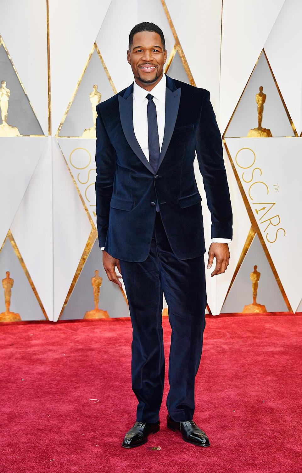 <p>TV personality Michael Strahan attends the 89th Annual Academy Awards at Hollywood & Highland Center on February 26, 2017 in Hollywood, California. (Photo by Frazer Harrison/Getty Images) </p>