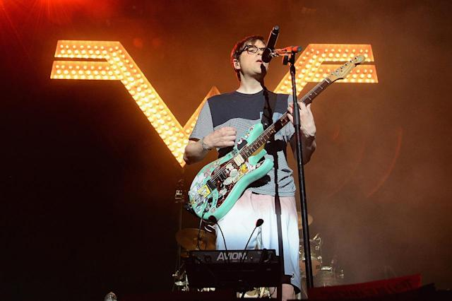 <p>Rivers Cuomo of Weezer performs onstage during the 2017 Firefly Music Festival on June 16, 2017 in Dover, Delaware. (Photo by Kevin Mazur/Getty Images for Firefly) </p>