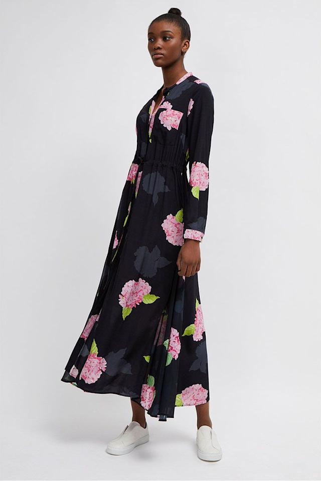 "<p>Floral midi shirt dress, £125, French Connection</p><p><a rel=""nofollow"" href=""https://www.frenchconnection.com/product/woman-collections-dresses/71leq/eleonore-drape-floral-midi-shirt-dress.htm"">BUY NOW</a></p>"