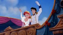<p>Say what you want about Disney princesses being bad role models for young viewers, but I one hundred percent endorse Ariel's wedding dress as role model for wedding dresses. Those animated puff sleeves are E-V-E-R-Y-T-H-I-N-G. </p>
