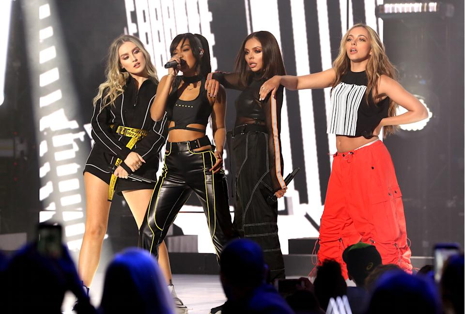 File photo dated 7/3/2019 of Jesy Nelson, Leigh-Anne Pinnock, Jade Thirlwall and Perrie Edwards of Little Mix who along with Stephen Fry have been honoured for being allies in defending and advancing LGBT rights.
