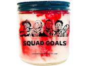 """<p>Thanks to this <span>Squad Goals Candle</span> ($13, originally $14), you can chill with your favorite <a class=""""link rapid-noclick-resp"""" href=""""https://www.popsugar.com/Halloween"""" rel=""""nofollow noopener"""" target=""""_blank"""" data-ylk=""""slk:Halloween"""">Halloween</a> villains whenever you'd like. Candles are vegan, soy, scent customizable, and can include drops of fake blood if you'd like.</p>"""