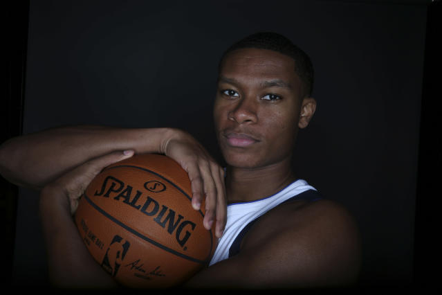 "Rookie guard <a class=""link rapid-noclick-resp"" href=""/ncaab/players/131379/"" data-ylk=""slk:PJ Dozier"">PJ Dozier</a> has linked up with Oklahoma City after catching on with the <a class=""link rapid-noclick-resp"" href=""/nba/teams/dal/"" data-ylk=""slk:Dallas Mavericks"">Dallas Mavericks</a> earlier this summer. (AP Photo/LM Otero)"