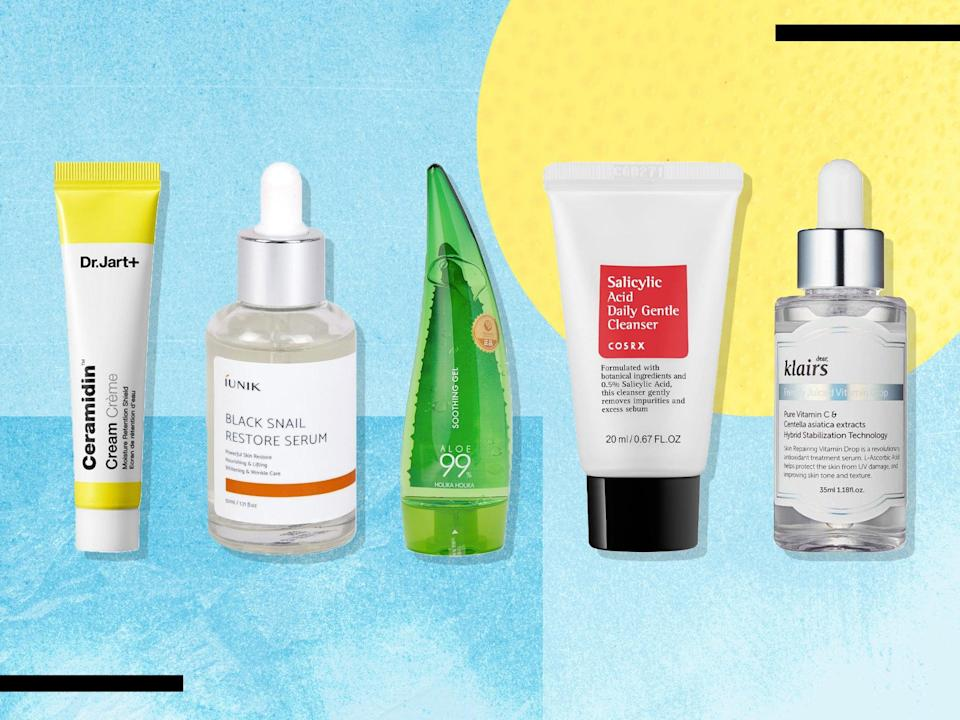 Each of these items helped bring us a step closer to achieving K-beauty's gold standard of healthy, luminous 'glass skin' (iStock/The Independent)