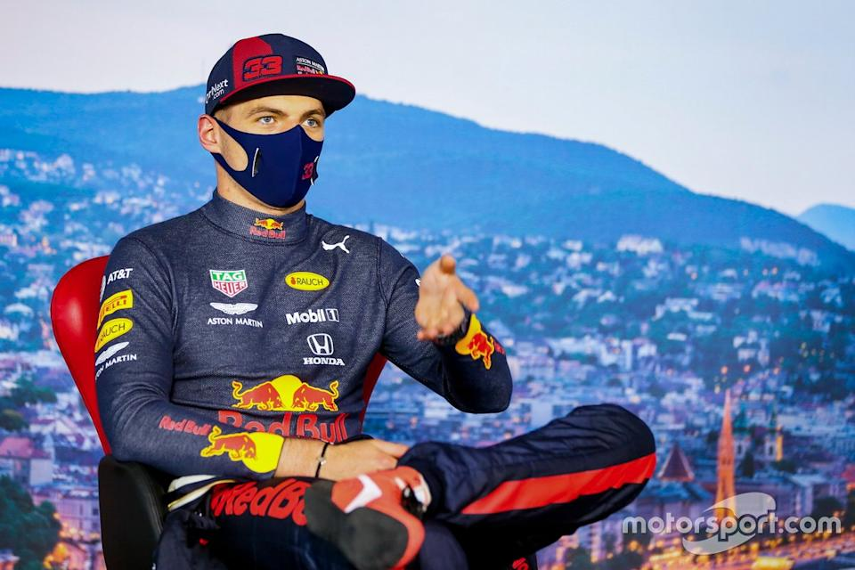 """Max Verstappen, Red Bull Racing in the press conference<span class=""""copyright"""">FIA Pool</span>"""