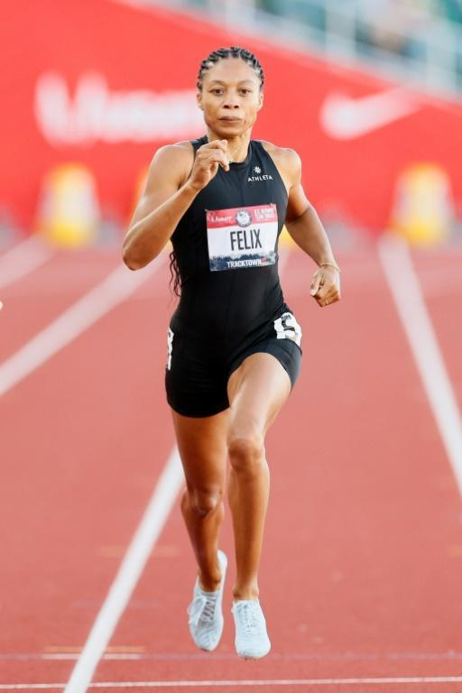 Allyson Felix advanced to Sunday's final of the 400m at the US Olympic track and field trials