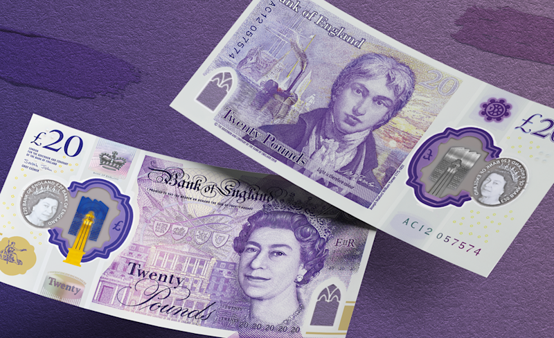 Turner's £20: new note unveiled to celebrate Margate artist