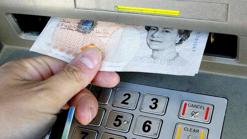 Cash withdrawals from ATMs decline across UK