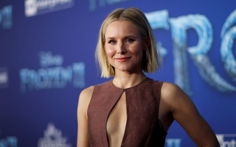 """Cast member Bell poses at the premiere for the film """"Frozen II"""" in Los Angeles"""