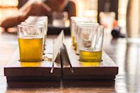 <p>Pick up some beers from a local brewery, and toast to Dad. Paying for his beer flight also works as a last-minute Father's Day gift.</p>
