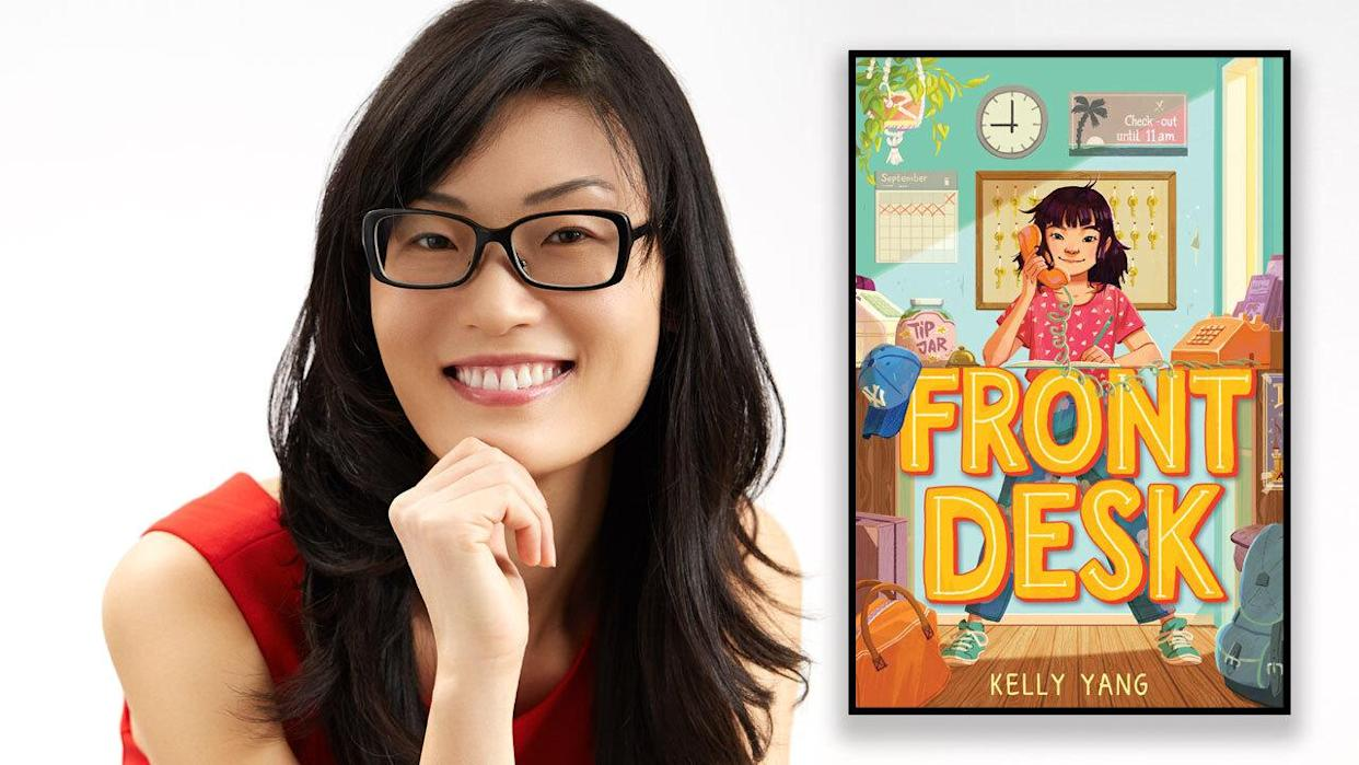 Kelly Yang is the author of Front Desk. (Photo and book jacket images courtesy of Scholastic)