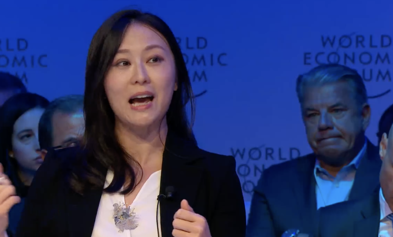 Dr Keyu Jin. Associate Professor of Economics. Department of Economics. Photo: World Economic Forum