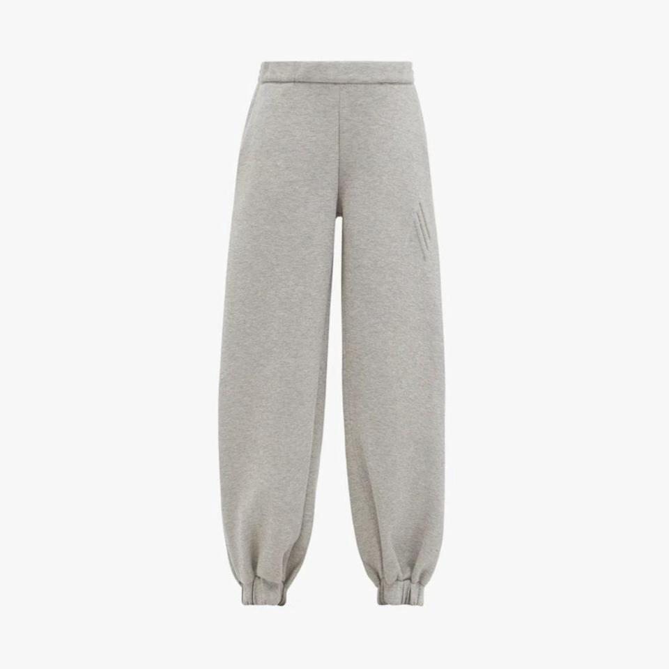 """$508, MATCHESFASHION.COM. <a href=""""https://www.matchesfashion.com/us/products/The-Attico-Carter-logo-debossed-cotton-blend-track-pants-1406012"""" rel=""""nofollow noopener"""" target=""""_blank"""" data-ylk=""""slk:Get it now!"""" class=""""link rapid-noclick-resp"""">Get it now!</a>"""