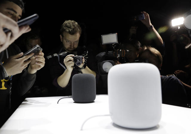 Amazon's efforts may help stave off increasing competition from companies such as Apple, which releases the HomePod — its answer to Amazon Echo — some time next year. Source: Yahoo Finance